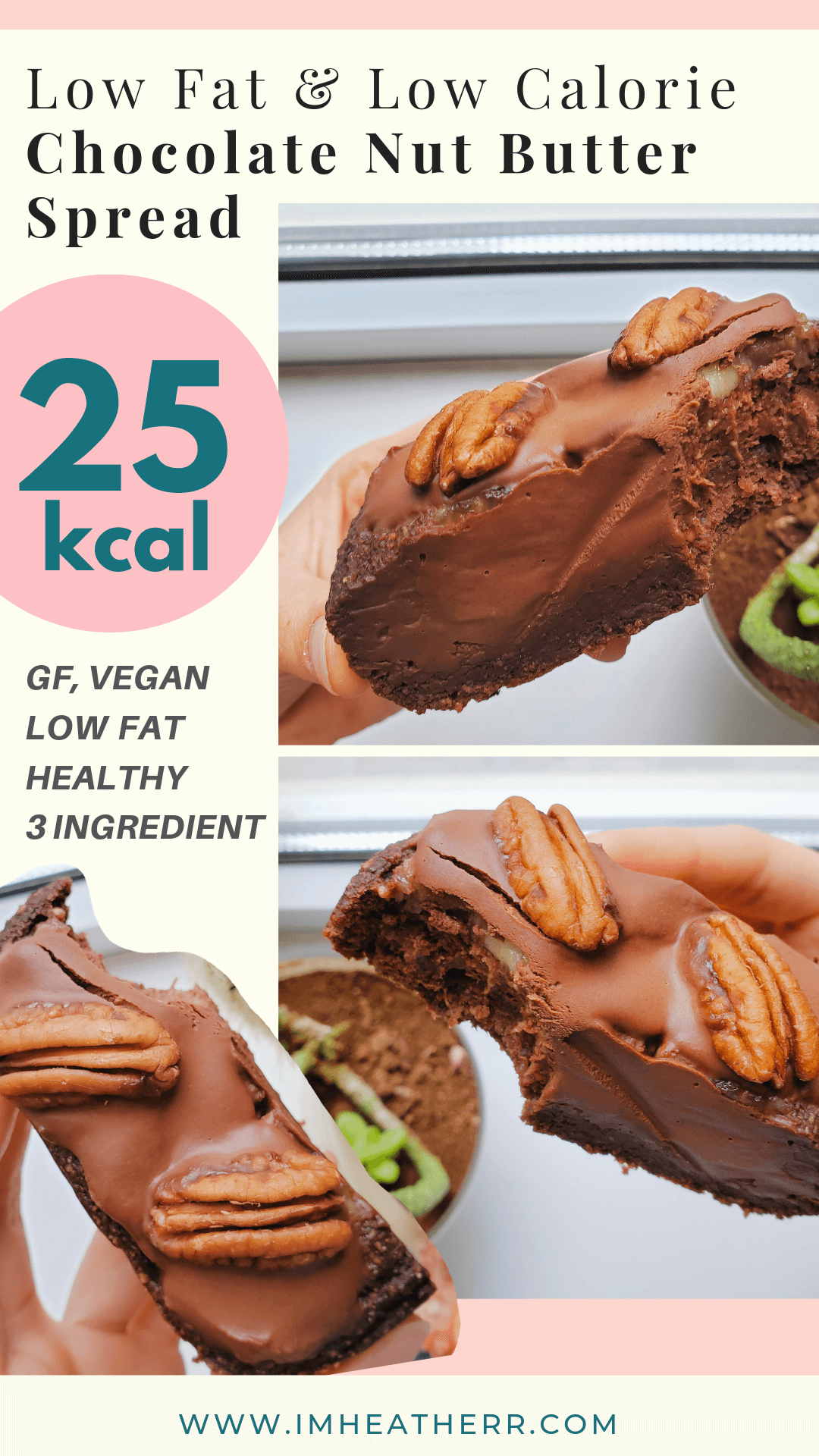Secretly Low Calorie Pb2 Chocolate Nut Butter 3 Ingredients 30 Calories Imheatherr